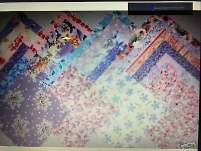 PASTEL Blenders Prints Quilt Fabric Squares Charm Pack 5 inch For Sewing