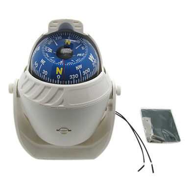 LED Light Electronic Vehicle Car Truck Navigation Sea Marine Boat Ship Compass