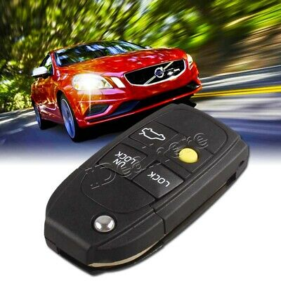Car 4 Button Flip Remote Key Fob Case Shell Fit for VOLVO S40 V40 C70 S60 S80