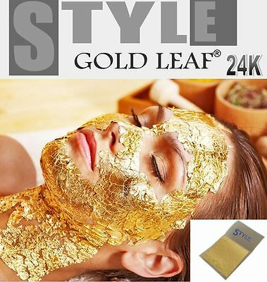 Gold Leaf Leaves 24K Carat PURE 99.9% for SPA Facial Mask Anti Aging 3.5x3.5cm