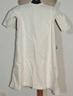 VIctorian Infants White Cotton Dress Great For Dolls