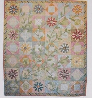 PATTERN - Fleurescence - applique and pieced quilt PATTERN - Focus on Quilts