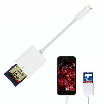 2 in 1 SD Card Camera Reader Adapter for Android & iPhone iPad 4 Mini Air #FV