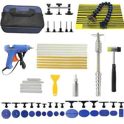 Paintless PDR Dent Puller Slide Hammer Kits-Repair Remove Hail Line Board Tools