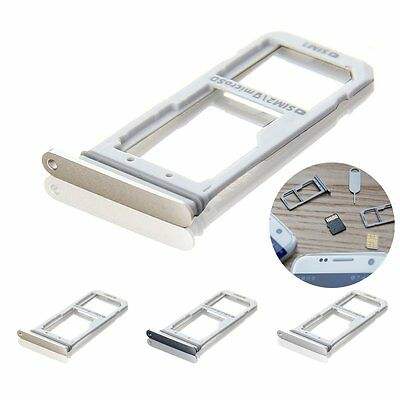 Dual SIM Card Holder Tray Replacement For Samsung Galaxy S7 Edge Repair Parts