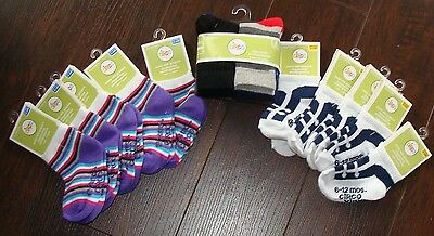 Circo Baby Socks 16 Pair Lot Sizes 6-12 Months, 12-24 Months New With Tags ~ Ct