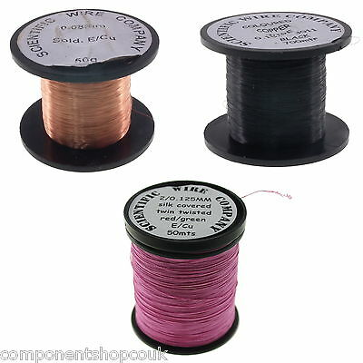 40 - 32AWG (0.08-0.2mm) Copper Solderable Enamelled Pencil Magnet Coil Wire UK