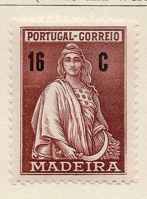 Madeira 1929 Early Issue Fine Mint Hinged 16c. 080435