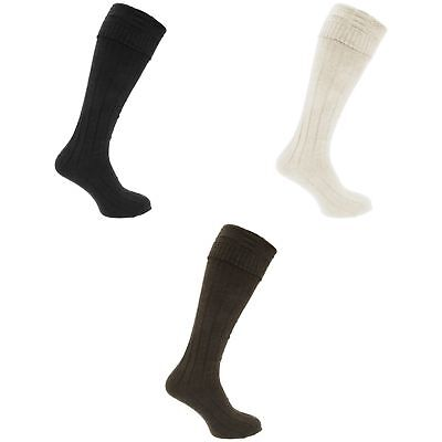 Mens Scottish Highland Wear Wool Kilt Hose Socks (1 Pair)