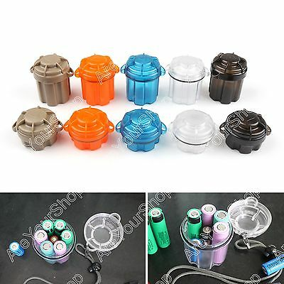 EDC Waterproof Shockproof Plastic Battery 18650 CR123A AA Container Box Case