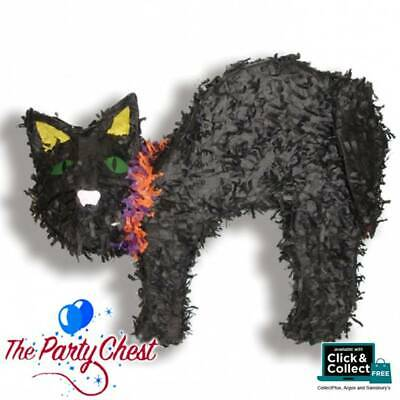 58CM BLACK CAT HALLOWEEN PARTY PINATA Traditional Party Game Decoration P19690