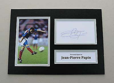 Jean-Pierre Papin Signed A4 Photo France Autograph Display Memorabilia COA