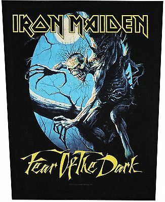 XLG Iron Maiden Fear Of The Dark Rock Music Woven Back Jacket Patch Applique