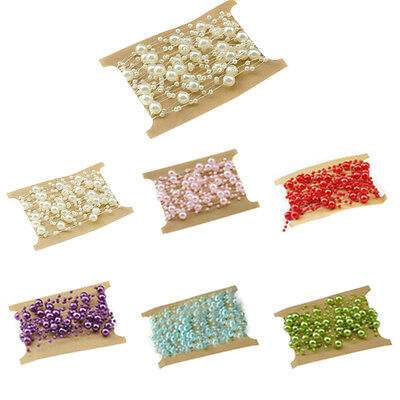 5M Fishing Line Artificial Pearls Beads Chain Garland Flowers Wedding Decoration