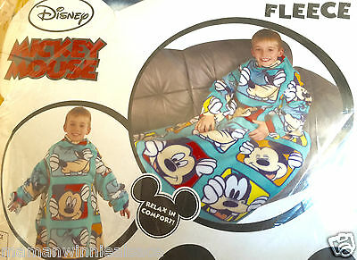 plaid avec manches enfilable neuf disney mickey  taille 4-8 ans flanelle