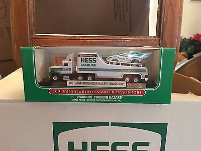 1 2001 Miniature Hess Racer Transport 4Th In A Series Fresh From Case Mib
