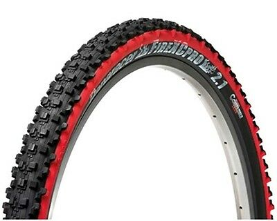 """Panaracer Fire XC Pro Tubeless Ready MTB Bicycle Bike Tyre Tyres 26"""" x 2.1 Red"""