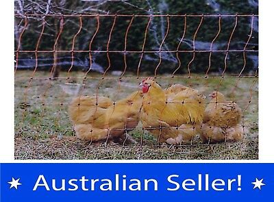 Electrified Poultry Netting Fencing Predator Protection Portable Fence 50 metre