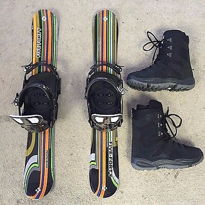 Snowblade package,Five-Forty 90cm Phenom,Matrix Snowboard Bindings&boots+fitting