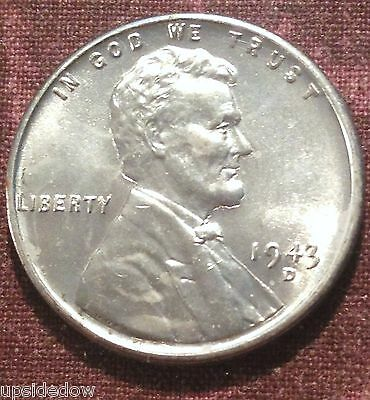 1943 D Steel Wheat Penny BU Near FuLL BRILLIANT ZINC Uncirculated   PICK YOURS!!