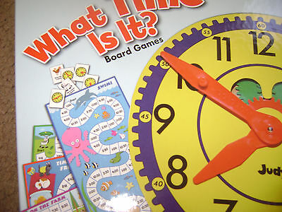 Educational board game - What time is it? age 5+