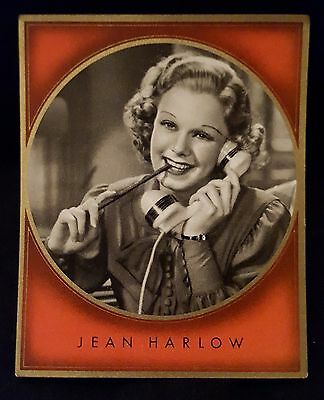 Jean Harlow 1930's Cigarette Card Movie Star Poster Vintage Hollywood