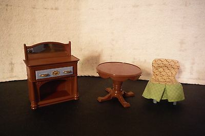 Lot Of Fisher Price Loving Family Dollhouse Dinning Room Furniture Accessories