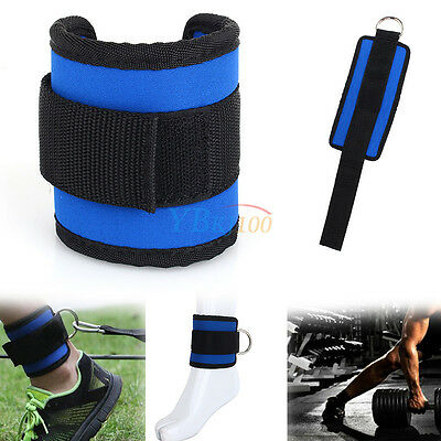 New Thigh Legs Pulley Ankle D-Ring Strap For Gym Weight Lifting Fitness Exercise