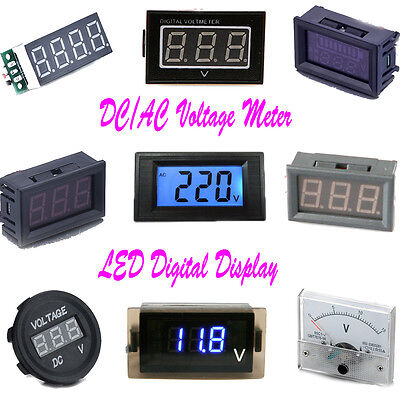 AC / DC Panel Meter Voltmeter Analog Voltage Detection Meter LCD Digital Gauge