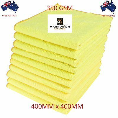 10x Microfibre Cleaning Cloth Towel Large Size for Car & Home Thick & Ultra soft