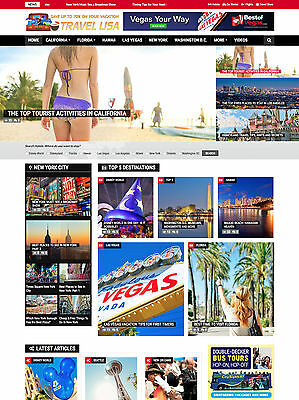 USA Travel & Vacation Hotel Affiliate website for sale Optional Cart