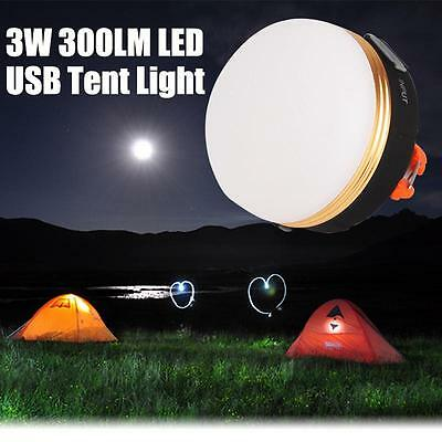 3W 300LM CREE LED USB Camping Outdoor Light Lantern Tent Lamp Rechargeable