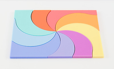 PASTEL ACRYLIC PLASTIC SHEETS PERSPEX 3mm, SATIN & GLOSS 100mm-600mm