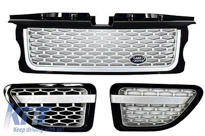 Range Rover Sport L320 06-09 Autobiography Look Grille & Side Vents Black Silver