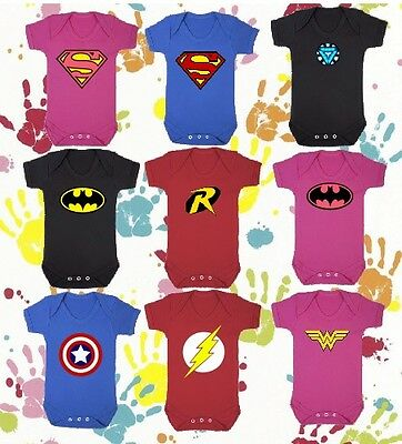 Personalised Super Hero Baby Vest Add Any Name Superhero Outfit