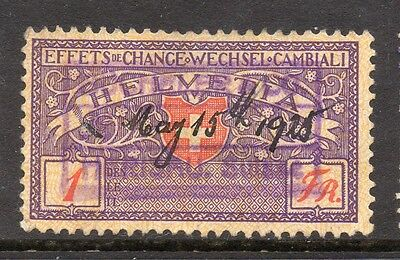 Switzerland Helvetia Canton Early Issue Fine Used 1f. 081855