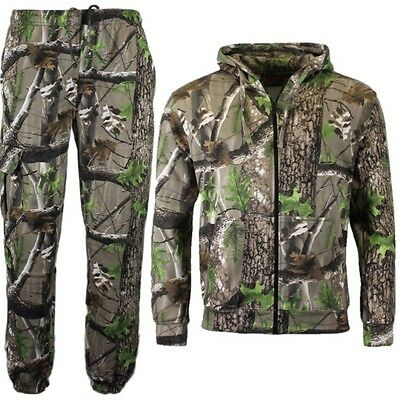 Kids Army Camo Tracksuit Outfit Hunting Trek Country Camouflage Hoodie Joggers