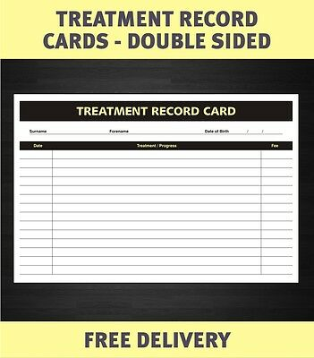 A5 Treatment Client Consultation Record Cards Salon Beauty Hair Therapist