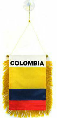"Colombia Mini Flag 4""x6"" Window Banner w/ suction cup"