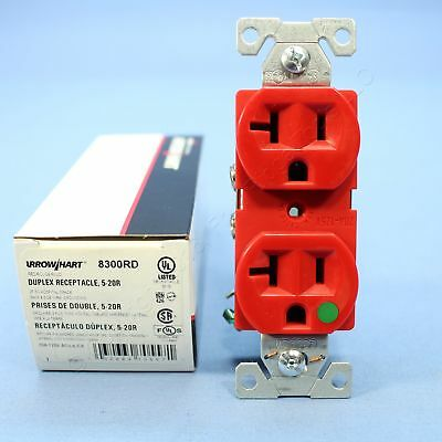 Cooper Red HOSPITAL GRADE Receptacle Outlet Duplex NEMA 5-20R 20A 125V 8300RD