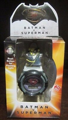 RARE DC Comics Batman Super Hero Light Up Black Red Grey Kids Watch