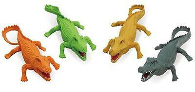 1 pack ASSORTED color PLAY 9 INCH RUBBER ALLIGATOR toy plastic pvc play GATORS