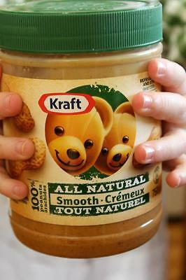 4 X 750g Kraft all Natural peanut Butter 100% CANADA MADE FREE SHIPPING TO USA
