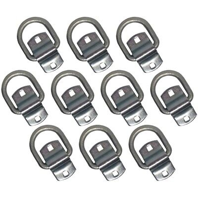 """(10) Bolt-on 1/2"""" D-Ring 12,000 lbs Rated 4,000 lbs WLL Free Shipping & Handling"""