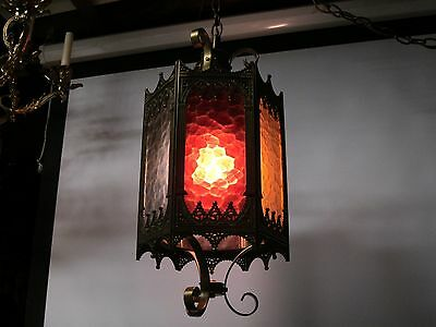 Decorative Arts Hanging Stained Glass Lamps Collectibles Home & Garden Lamps