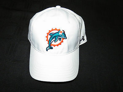 Miami Dolphins White Adjustable Under Armour Hat Brand New! Old Logo Sale!