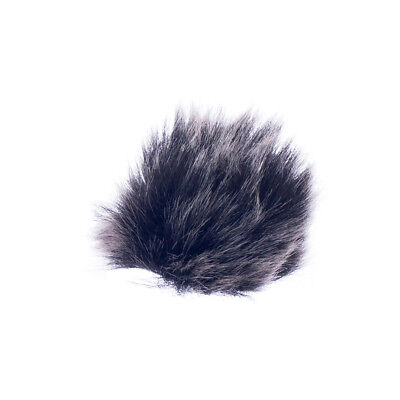 Universal Lavalier Lapel Microphone Mic Fur Wind Muff Windscreen Black 15mm