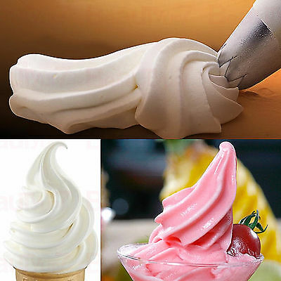 Cupcake 6 Nozzels Set Piping Icing Disposable Bags Pastry Sugarcraft Decorate UK