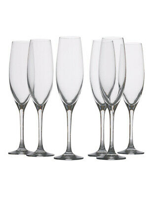 NEW Maxwell & Williams Mansion Champagne Flute, Set of 6 Gift Boxed, 180ml