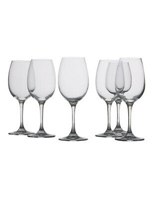 NEW Maxwell & Williams Mansion White Wine Glass  Set of 6 Gift Boxed  240ml